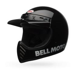 Moto-3 Classic Helm Zwart