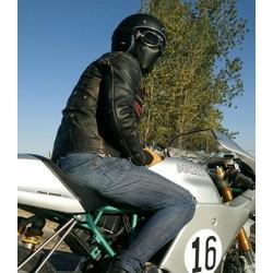 Cafe Racer Masker Leder - Black