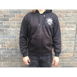 protective fabric  Hoodie + Protectoren - Zwart