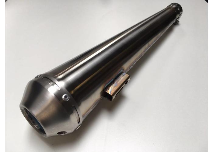 MCU 520 x 51MM Handgemachte Edelstahl Megaton Auspuff (Universal) mit dB-eater