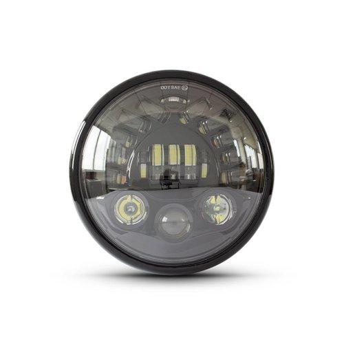 """7  """"Multi LED Headlight + Indicators Black"""