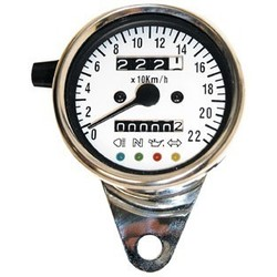 White Speedometer with 4 Function Lights