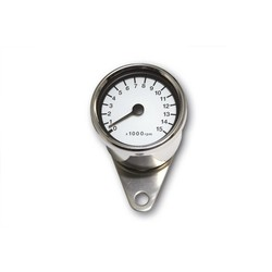 15.000 RPM Cafe Racer Tachometer Chrome