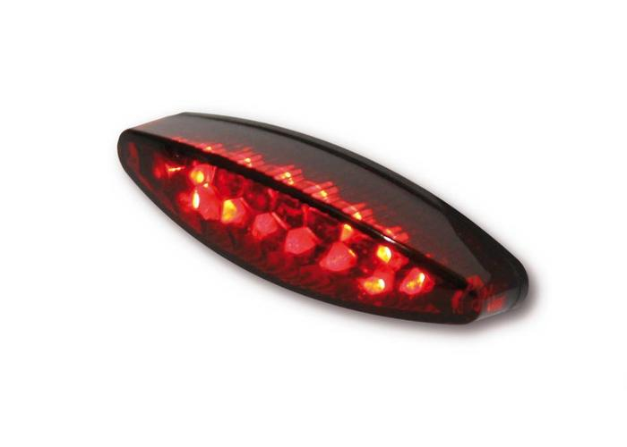 Highsider Achterlicht LED Ovaal Smoke