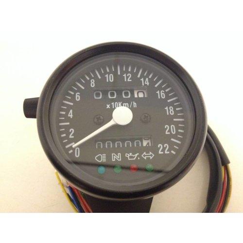 Black Speedometer with 4 Indicator Lights