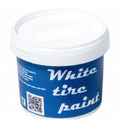 Weiße Wandfarbe (Reifen)