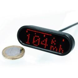 Motoscope Mini Kilometerteller én Toerenteller Black