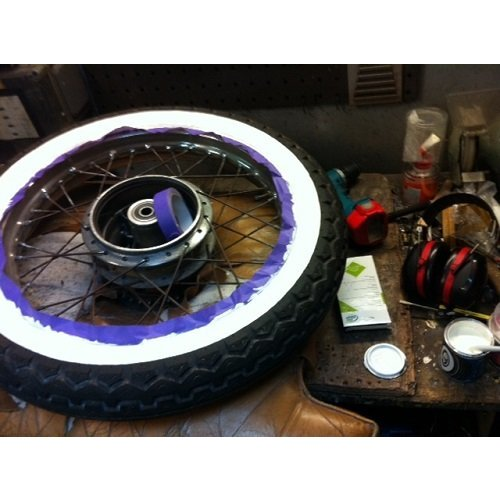 White Wall Tire Paint