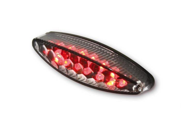 Highsider Achterlicht LED Ovaal Transparant