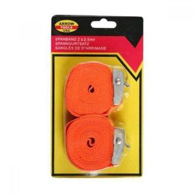 Spanngurt 2 X 2.5 Mtr Orange