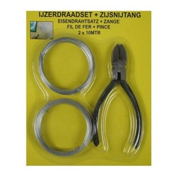 Iron Wire Set + Cutting Pliers 2X10 Mtr.