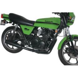 Kawasaki KZ550/GPZ550 4-in-1 Auspuff Schwarz