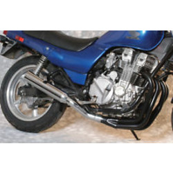 Honda CB 750 F/K 4-into-1 exhaust megaphone black/chrome