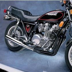 Kawasaki KZ650/750 Système d'échappement Megaphone 4-en-1 noir/chrome