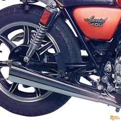 Yamaha XS 400 Pot d'échappement Megaphone 2-en-2