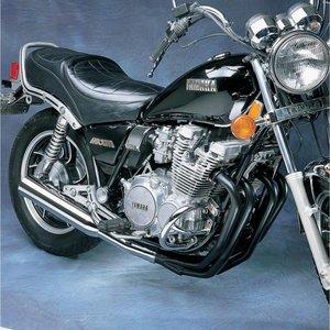 MAC Exhausts Yamaha XJ 650 750 4 INTO 1 Exhaust MEGAPHONE Black Chrome