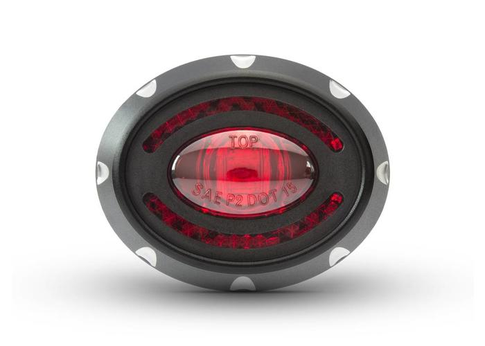 "2"" Micro Oval CNC Aluminium LED Stop / Rücklicht"