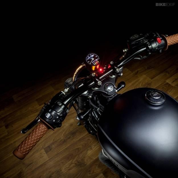 Black Biltwell Motorcycle Grips Torker 1