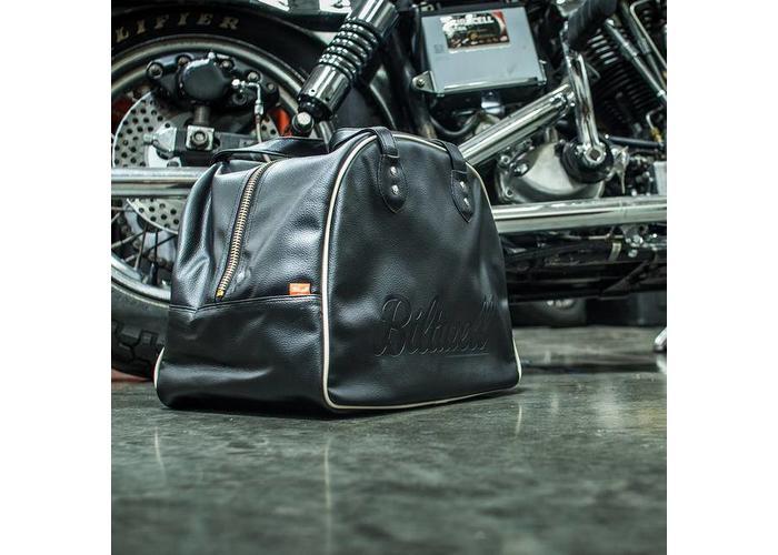 Biltwell Rover Helmtasche Schwarz / Weiß