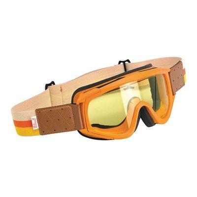 Biltwell Overland Goggles Orange / Yellow