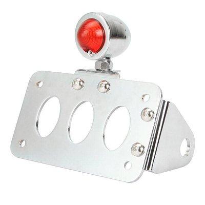 """Support de plaque chromé + éclairage type """"Bullet"""""""