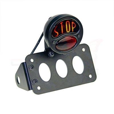 Support de plaque + éclairage type Vintage Stop