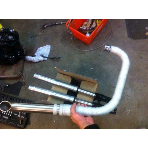 MCU 10M Uitlaat Wrap / Exhaust Wrap / Heat Wrap Wit