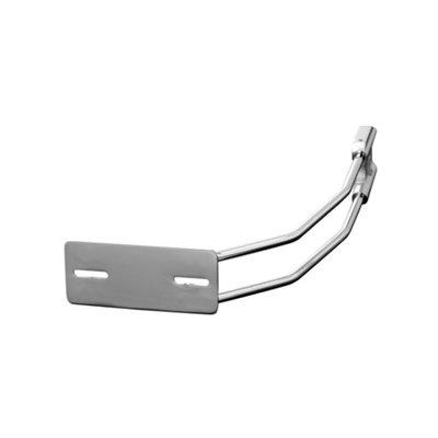 Support de plaque chromé universel 20 mm pour l'essieu arrière