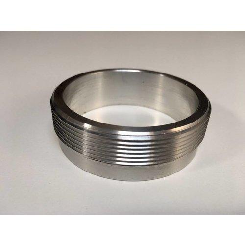 """MCU Aluminium 2.5"""" Lasflens / Lasmof met schroefdraad 2.5"""" voor Monza Tankdop"""