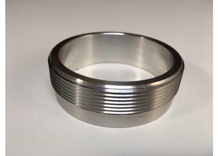 """MCU  2"""" Aluminium flens met draadsnijgereedschap (voor Monza-doppen)"""