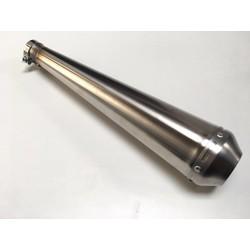 Long pot d'échappement en inox fait main + DB-Killer 44mm