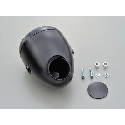 "Daytona 5.75"" Vintage Headlight With Gauge Hole Black"