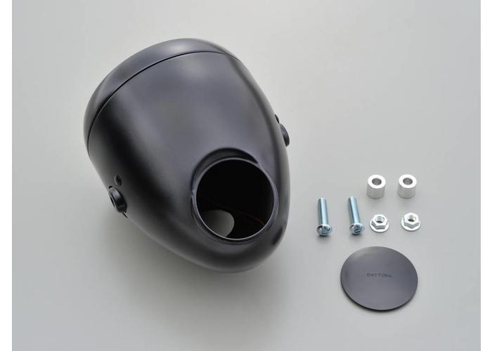 """Daytona 5.75 """"Vintage koplamp met gauge gat zwart"""