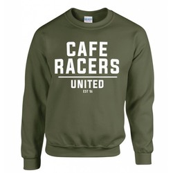 Sweatshirt Cafe Racers United - Militaire