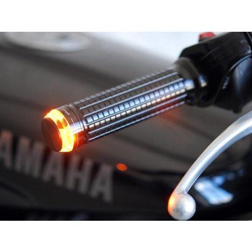 Motogadget mo.blaze Disc Bar end LED Knipperlicht Zwart  (prijs is voor 1 exemplaar)  (Kies uw kant)