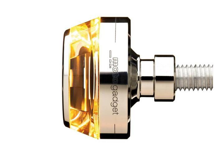 Motogadget Bar end LED knipperlicht m-Blaze Disc chrome