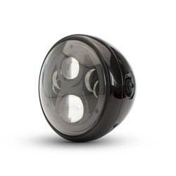 "Cafe Racer Multi LED Koplamp 7"" Zwart"