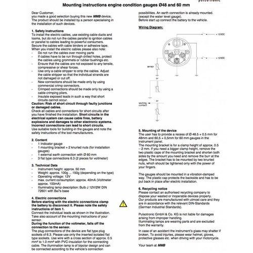 Benzinemeter 48MM