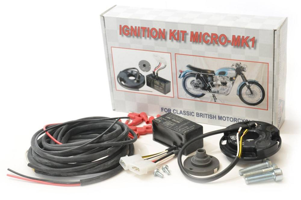 CLASSIC BIKE ELECTRONIC IGNITION KIT FOR BSA TRIUMPH  12V micro mk1 kit