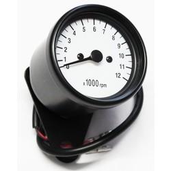 12.000 RPM Tachometer Black / White