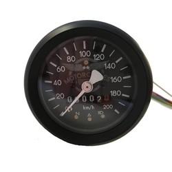 Compteur kilométrique noir BMW 60MM + 4 fonctions