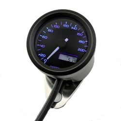 Indicateur de vitesse noir Velona 48MM 200 km/h