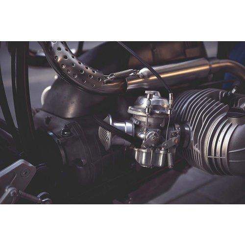 "BMW RV2 Motorabdeckhaube Aluminium ""Raster"""