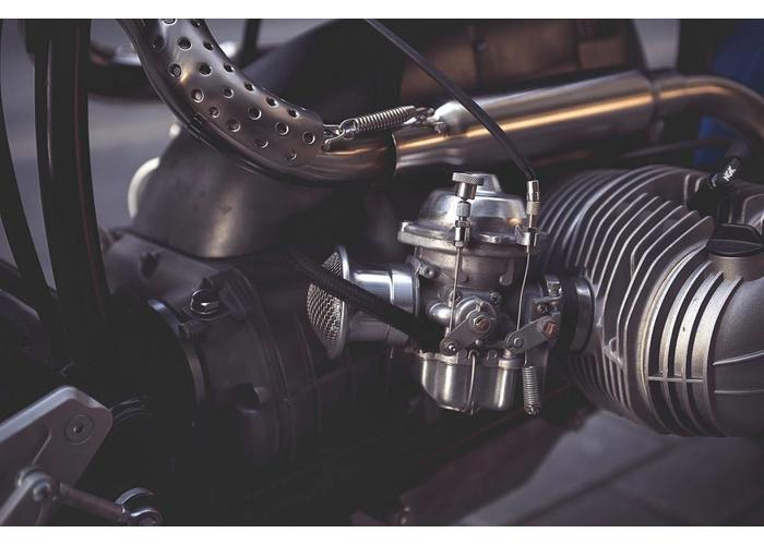 "BMW RV2 Airbox Cover Aluminium - ""Raster"""