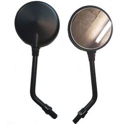 Pair Of Mirrors - Round Black