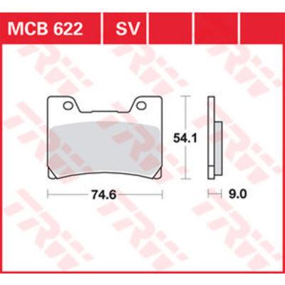 TRW MCB 622V Plaquettes de frein avant - Yamaha TDM 850