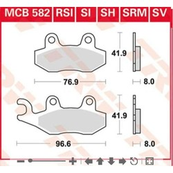 MCB582 Remblokken - Triumph Scrambler
