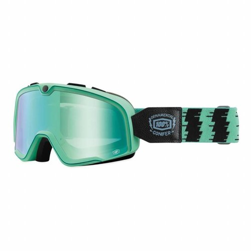 100% Barstow Ornamental Conifer Custom Goggles - Mirror Green Lens
