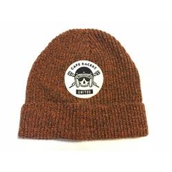 Skull Docker Hat Orange