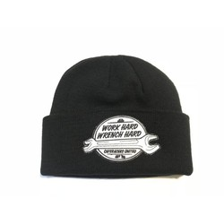 "Bonnet Docker ""Work Hard"" noir"